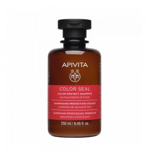 APIVITA COLOR SEAL Σαμπουάν Προστασίας Χρώματος Πρωτεΐνες Κινόα & Μέλι - 250ml