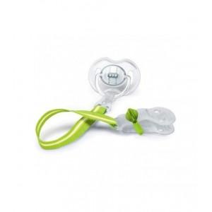 AVENT SCF185/00 - Κλιπ Πιπίλας Κατάλληλο Για Βρέφη Από Τη Γέννηση 0m+, Χωρίς BPA, Συσκευασία Με 1 Τεμάχιο Πρασινο