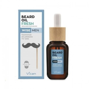 Vican Wise Men Beard Oil Fresh Λάδι για τη γενειάδα του άνδρα, 30ml