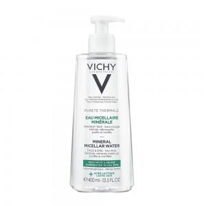 Vichy Purete Thermale Mineral Micellar Water Νερό Micellaire  για Πρόσωπο & Μάτια για Λιπαρές/Μικτές Επιδερμίδες, 400ml