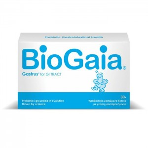 BioGaia Gastrus Προβιοτικά Μασώμενα Δισκία με γεύση Μανταρίνι/Μέντα, 30 Chew.Tabs
