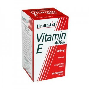 Health Aid Vitamin E 400iu Natural vegetarian capsules 30's
