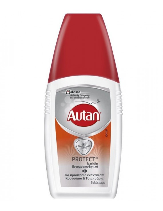 Autan Protect Emulsion Εντομοαπωθητικό Γαλάκτωμα για Κουνούπια & Τσιμπούρια, 100ml