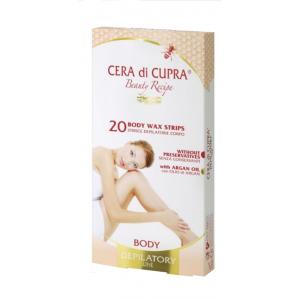 Cera di Cupra Ταινίες αποτρίχωσης για το σώμα με καλέντουλα και κερί μέλισσας 20 ταινίες
