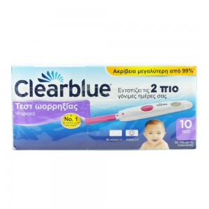 Clearblue Digital Ψηφιακό Τεστ Ωορρηξίας 10Τεμ.
