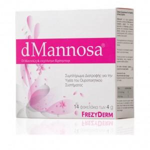 Frezyderm dMannosa & Cranberry Extract D-Μαννόζη & Εκχύλισμα Κράνμπερι Συμπλήρωμα Διατροφής για την Υγεία του Ουροποιητικού Συστήματος, 14x4gr