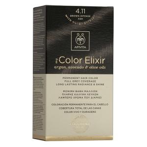 APIVITA My Color Elixir, Βαφή Μαλλιών No 4.11 - Καστανό 'Εντονο Σαντρέ