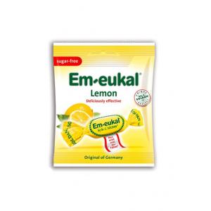 Em Eukal Καραμέλες για το Λαιμό Λεμόνι χωρίς ζάχαρη, 75gr