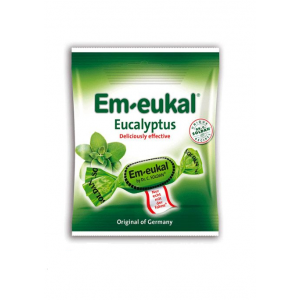 Em Eukal Καραμέλες για το Λαιμό Ευκάλυπτος χωρίς ζάχαρη, 75gr