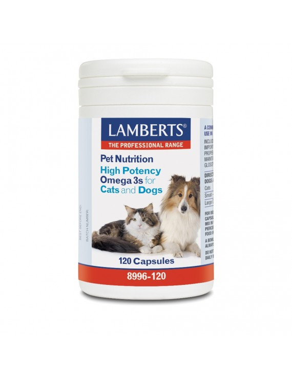 Lamberts Pet Nutrition High Potency Omega 3 for Cats & Dogs 120caps