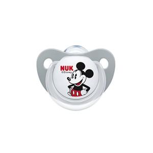 NUK Trendline Disney Mickey Ορθοδοντική Πιπίλα Σιλικόνης 6-18m Γκρί (10.736.380)   1τμχ