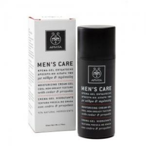 Apivita Men's Care Κεδρος & Προπολη Κρέμα - Gel Ενυδάτωσης με Δροσερή Μη Λιπαρή Υφή 50ml