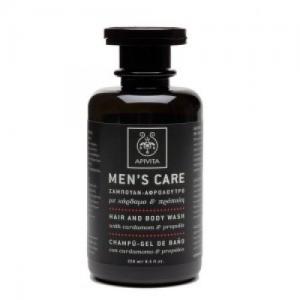 Apivita Men's Care Shampoo  - Αφρόλουτρο με Καρδαμο και Προπολη 250 ml