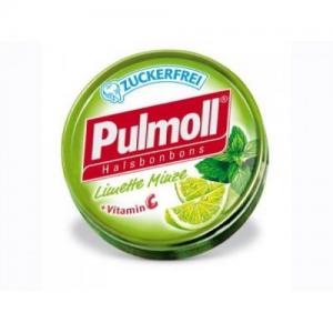 Pulmoll Limette Minte +Vitamin C, Καραμέλες για το βήχα με γεύση Γλυκολέμονο και Μέντα C 50g