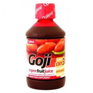 Optima GOJI Super Fruit  juice with OXY3 500 ml(μειγμα απο κοκκινο σταφυλι,λυκοπενιο ,ρεσβερατρολη)