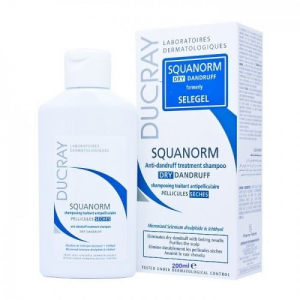 DUCRAY SQUANORM DRY Anti-Dandruff treatment Shampoo 200ml