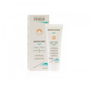 Synchroline Aknikare Sun SPF30.Κρεμα Προσωπου με αντιηλιακα  φιλτρα για την Ακνεικη και Λιπαρη  Επιδερμιδα 50ml