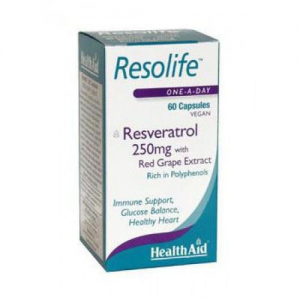 Health Aid Resolife Resveratrol 250mg  60caps vegan