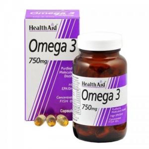 Health Aid Omega-3 , 750mg 60 capsules