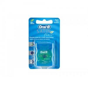 Oral-B Satin Floss 25m Mint, Μεσοδόντιο οδοντικό νήμα με γεύση μέντας 1 τεμάχιο