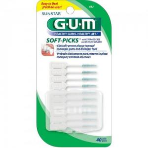 GUM  SOFT-PICKS 632 +Fluoride 40 + 10τεμαχια Regular