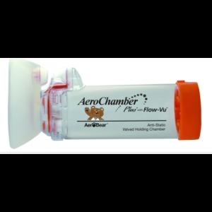 AeroChamber Plus with Flow-Vu Αεροθάλαμος Εισπνοών Βρεφικός με Μάσκα 0-18 μηνών