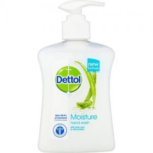DETTOL Liquid Soap Moisture, Ενυδατικό αντιβακτηριδιακό,υγρό κρεμοσάπουνο με Αλόη 250 ml