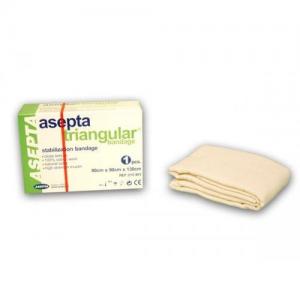 Asepta Triangular Bandage, Τριγωνικός επίδεσμος πυκνής ύφανσης από 100% βαμβάκι 90x90cm 1τμχ