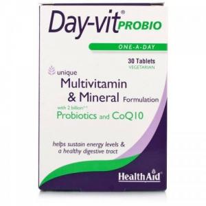 Health Aid Day-Vit Probio, Συνδυασμός Βιταμινών με Προβιοτικά, 30tab