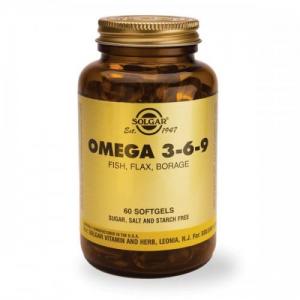 SOLGAR OMEGA 3-6-9  60 softgels Iχθυελαιο,Λινελαιο,Eλαιο Μποραγκο.