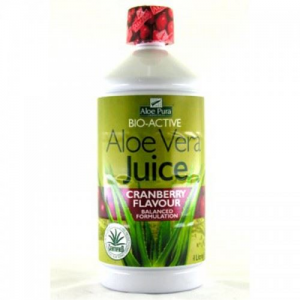 Optima Aloe Vera Juice Cranberry Flavour BIO-ACTIVE 1lt