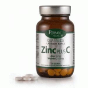Power Health Classics Platinum Zinc Plus C 150mg Για Την Ενίσχυση Του Ανοσοποιητικού 30 Κάψουλες