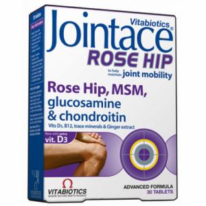 Vitabiotics Jointace Rose Hip,Σκεύασμα Με Γλυκοσαμίνη, MSM & Άγριο Τριαντάφυλλο 30 tabs.