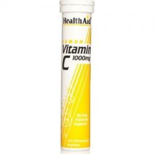 Health Aid Vitamin C 1000mg Δισκία Με Υψηλή Περιεκτικότητα Σε Βιταμίνη C Λεμόνι 20Δισκία