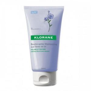 Klorane Baume apres shampooing aux Fibres de Lin 150ml, Μαλακτική Κρέμα για μετά το λούσιμο με ίνες λιναριού, όγκος και ξέμπλεγμα στα λεπτά μαλλιά
