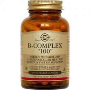 Solgar B-Complex 100mg  50 Vegetable Capsules