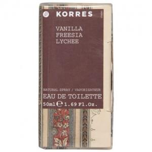 Korres Eau de Toilette Γυναικείο Άρωμα Βανίλια, Φρέζια & Λίτσι 50ml
