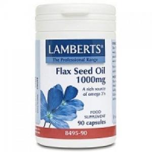 Lamberts Flax Seed Oil 1000mg (Λάδι από Λιναρόσπορο) 90 Caps