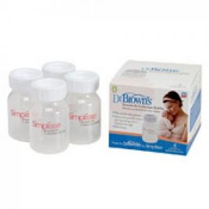 Dr.Brown's Μπουκάλια Συλλογής Μητρικού γάλακτος, 4 τεμάχια 120ml