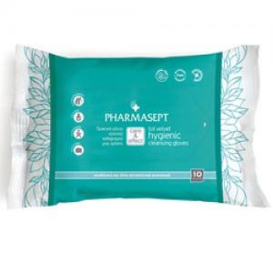 Pharmacept Tol Velvet Hygienic Cleansing Gloves 10 τεμάχια Γάντια Καθαρισμού Σώματος