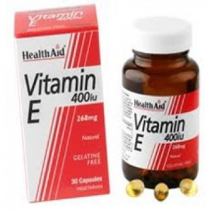 Health Aid Vitamin E 400iu Natural vegetarian capsules 30's