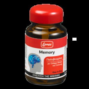 Lanes Memory, Συμπλήρωμα διατροφής με Ginkgo Biloba και Ginseng, για την ενίσχυση της μνήμης 30tabl