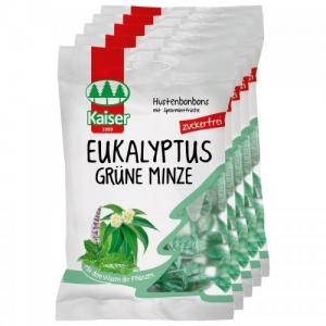 Kaiser Eukalyptus Καραμέλες για τον ερεθισμένο λαιμό & τον βήχα 75 gr με Ευκάλυπτο & Δυόσμο