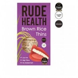 Rude Health Καστανό Ρύζι Thins Βιολογικά 130 γρ