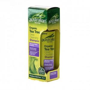Optima Australian Organic Tea Tree Anti Dandruff Shampoo, 250 ml με Έλαιο Τεϊόδεντρου κατά της Πιτυρίδας