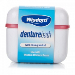 Wisdom Denture Bath, θήκη μασέλας για τον καθαρισμό και την αποθήκευση της μασέλας 1 τεμάχιο