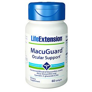 Life Extension Macuguard Ocular Support 60 Softgels ( Super Zeaxanthin )