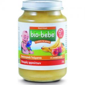 Bio-Bebe Nutrition Βιολογική Βρεφική Τροφή Πουρές Φρούτων 200 gr, από τον 6ο Μήνα
