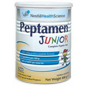 Nestle Peptamen Junior Γάλα ειδικής διατροφής για παιδιά 1-10 ετών με γεύση βανίλια 400γρ