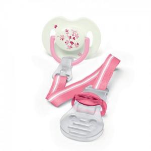 AVENT SCF185/00 - Κλιπ πιπίλας κατάλληλο για βρέφη από τη γέννηση 0m+, Χωρίς BPA, Συσκευασία με 1 τεμάχιο Ροζ